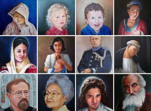 Open atelier. Bekijk onder andere deze portretten en nog veel meer in de twee expositieruimten van het atelier Veemarkt 29 te Zwolle